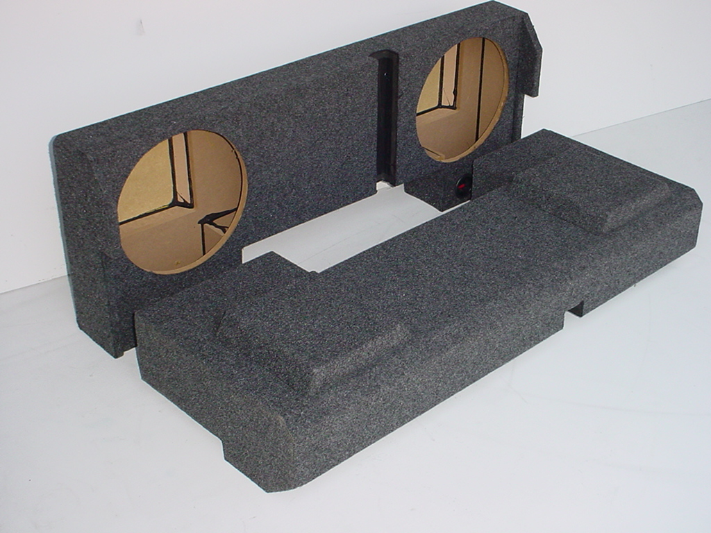 2001-2007 Chevy Crew Cab HD Downfire Sub Box 2X10