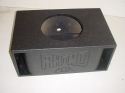 Single 12'' Double Horn Ported Poly Subwooer Box Sub Box